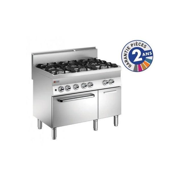 Baron Piano de cuisson - 6 feux vifs gaz sur four gaz - Gamme 650 650