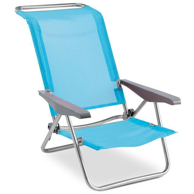 carrefour chaise de plage 4 positions avec poign es. Black Bedroom Furniture Sets. Home Design Ideas