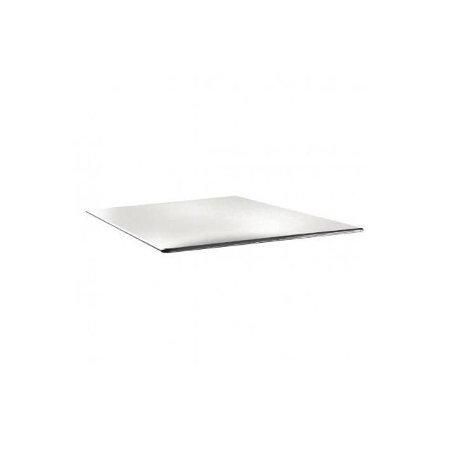 Topalit Plateau de table carré 800 mm - Smartline blanc pur - Blanc 800 mm