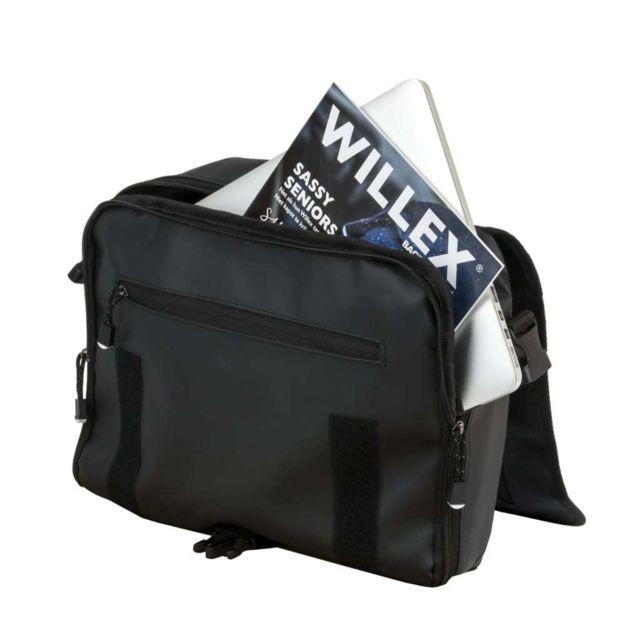 Willex Sacoches de V/élo 46 L Noir Mat Sacoches de Rangement Sac Arri/ère