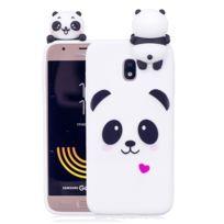 Wewoo - Coque pour Samsung Galaxy J3 2017 Version Ue / J330 Panda Motif Tpu Housse de protection arrière avec 3D Poupée