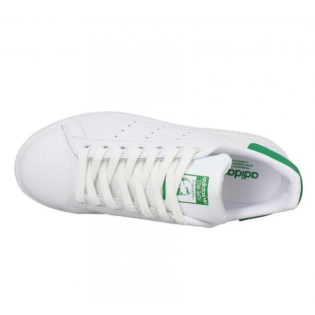 Adidas Stan Smith cuir grave 38 23 Blanc Vert pas cher