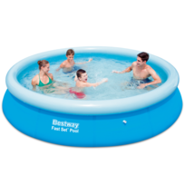 Rocambolesk superbe piscine gonflable ronde bestway fast set neuf pas cher achat vente - Piscina bebe carrefour ...