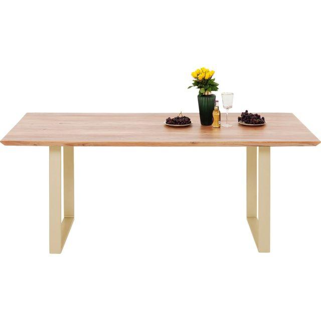 Karedesign Table Symphony acacia laiton 160x80cm Kare Design