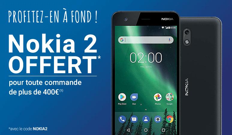 Un NOKIA 2 Offert pour les commandes* de plus de 400 € !