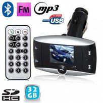 Yonis - Transmetteur Fm voiture Bluetooth Mp3 Usb Carte Sd Jack 3.5mm 32 Go