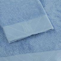 Bailet - Drap de bain uni - Intemporel - bleu ciel - Coton peigné 100
