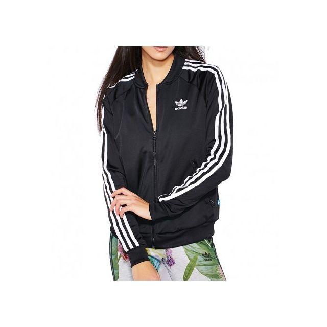 Adidas originals - Veste Supergirl Tt Noir Femme Adidas - pas cher ... fd74c2fae19