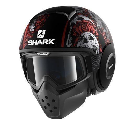 Shark Casque Jet Drak Sanctus Noir Rouge Anthracite Pas Cher