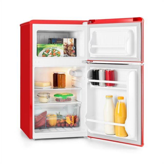 KLARSTEIN Monroe Red Réfrigérateur/congélateur 61/24l Classe A+ Look rétro ? rouge