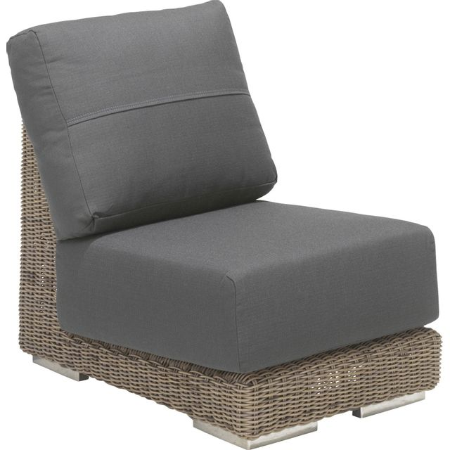 comforium fauteuil de jardin sans accoudoir en r sine tress e coloris pure sebpeche31. Black Bedroom Furniture Sets. Home Design Ideas