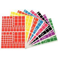 Apli - agipa - 119220 - gommette adhésive carrée assortie - pochette de 1260