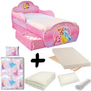bebe gavroche pack complet lit design avec tiroirs princesse disney lit matelas parure. Black Bedroom Furniture Sets. Home Design Ideas