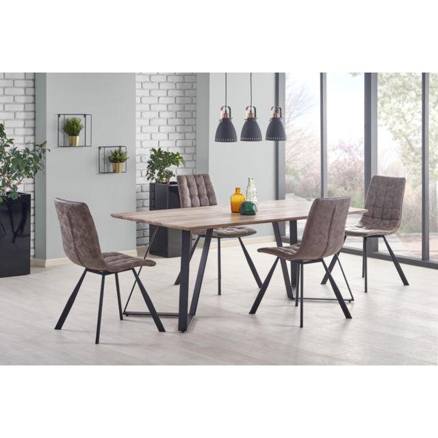 Carellia Table à manger rectangulaire 180 cm x 90 cm x 76 cm