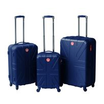 LEE COOPER - Set de 3 valises rigides FLAG - ABS - Bleu