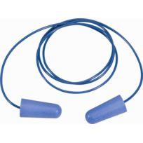 DELTA PLUS - Sachet de 10 paires de bouchons d'oreilles détectables en polyuréthane avec cordon plastique - CONICDE010BL