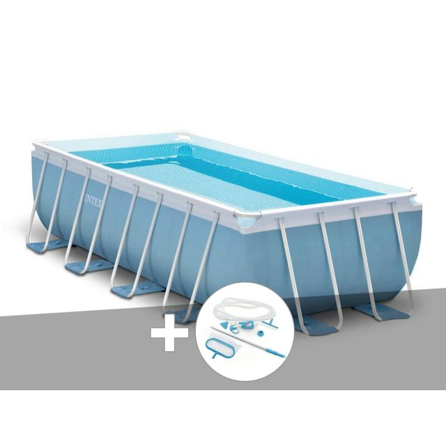 Intex Kit Piscine Tubulaire Prism Frame Rectangulaire 4 88 X 2 44