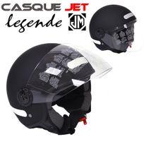 Jm Motors - Casque jet Legende noir mat Taille M