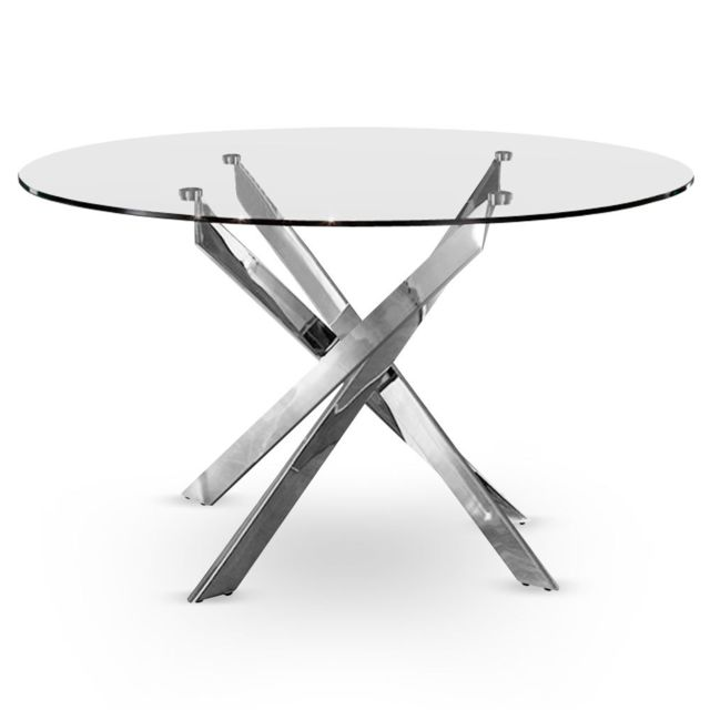 MENZZO Table Croisade Chrome
