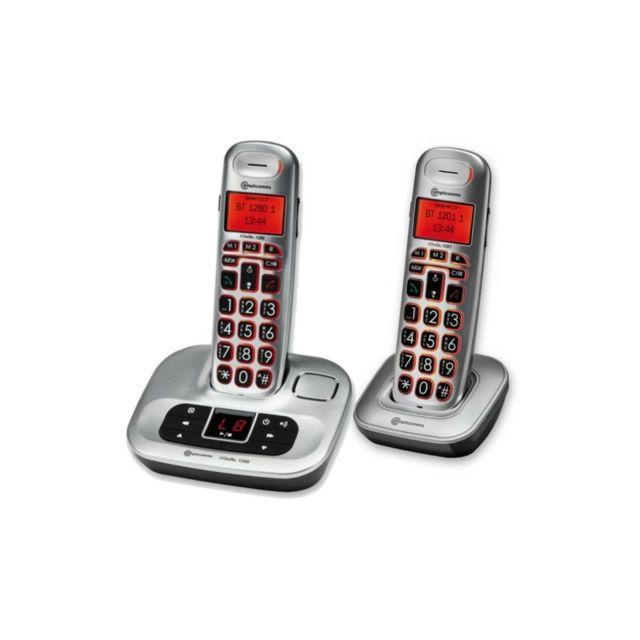 Amplicomms Combo Téléphone sans fil avec répondeur 1280/1201