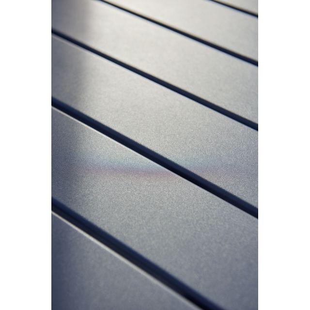 HYBA - Table de jardin carrée URBAN - Aluminium - Gris - pas cher ...