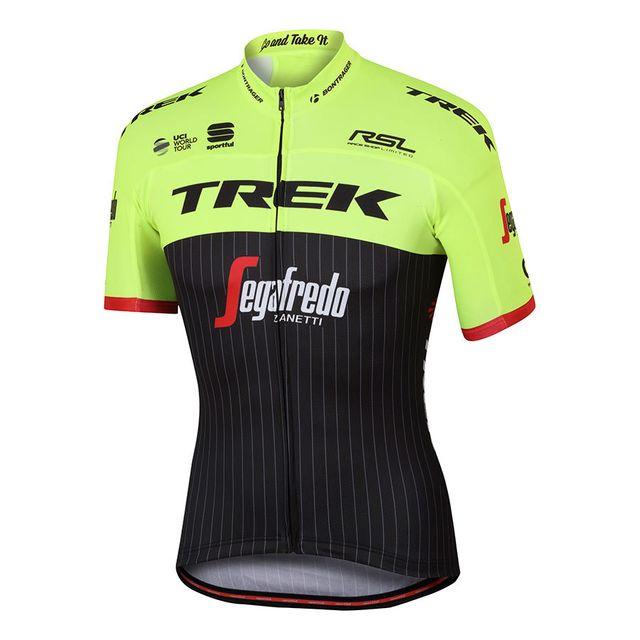 Maillot Trek Pro Team Sportful Jaune Noir Bodyfit Jersey Segafredo Z4W1xxz6