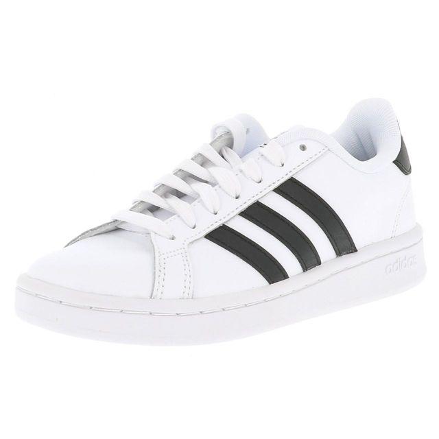 Chaussures basses cuir ou simili Grand court w blanc nr Blanc 41945
