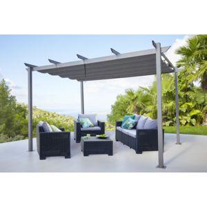 soldes carrefour tonnelle lorca toile r tractable gris anthracite pas cher achat vente. Black Bedroom Furniture Sets. Home Design Ideas