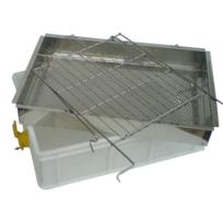 Apimiel - Bac à désoperculer en Plastique alimentaire et grille inox de qualité avec robinet