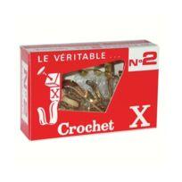 Crochet X - n°2 + épingles - lot de 10