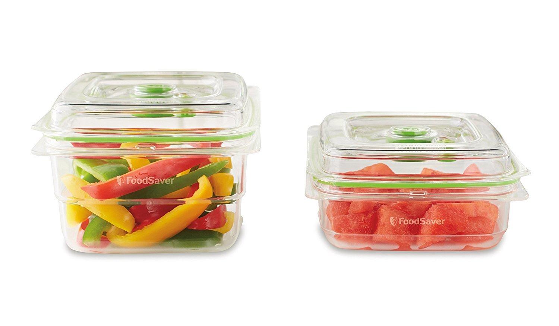 FOODSAVER Lot de 2 boîtes fraîcheur - FFC015X - Transparent