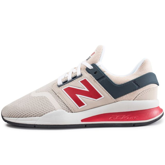 new balance 247 blanche rouge
