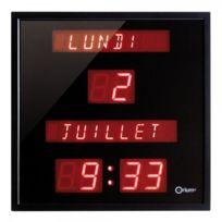 Orium - Horloge digitale - Calendrier - gros caractères