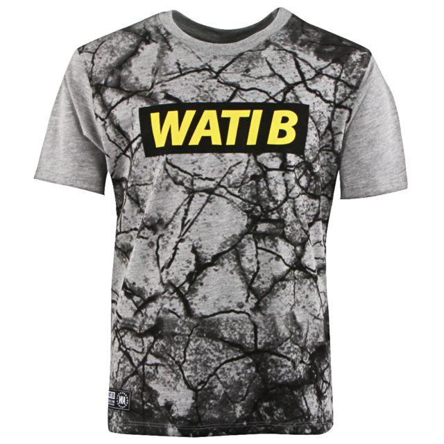 229b7415d4277 Wati B - Wake Tee Shirt Mc Garcon - Taille 10 ans - Gris - pas cher Achat   Vente  Tee shirt enfant - RueDuCommerce