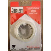 BIALETTI - Grille Micro-Filtre + 3 joints pour Moka / Dama 6 tasses Réf. 0800004