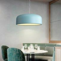 Lampe suspendue Luminaire Salon Nordic Simple Restaurant Lustre Macaron  Plafonnier Chambre d\'étude Bleu