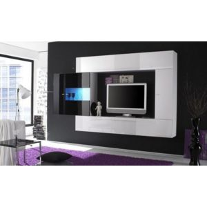 inside 75 composition murale tv design primera 4 blanc et noir pas cher achat vente. Black Bedroom Furniture Sets. Home Design Ideas