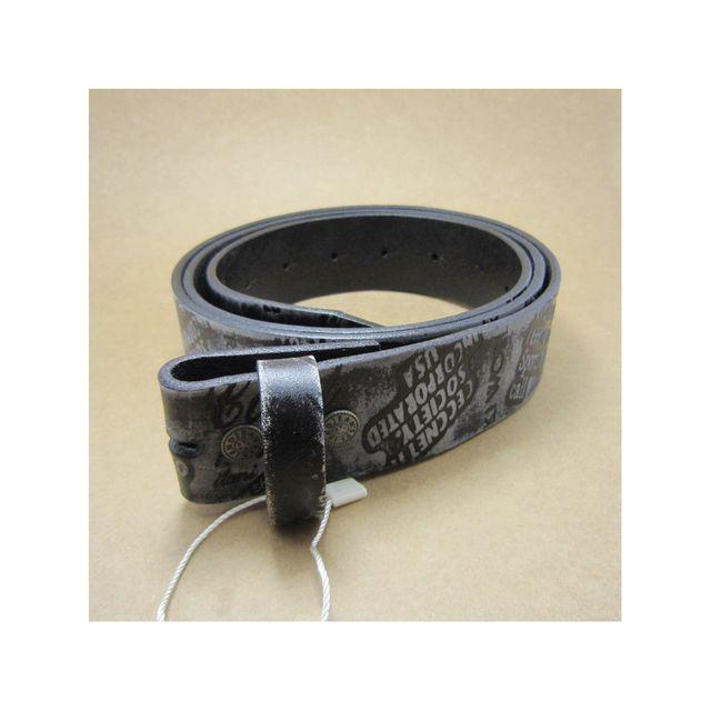 be62842ba83 Universel - Xl 125cm ceinture en cuir véritable noir gris gravé homme femme
