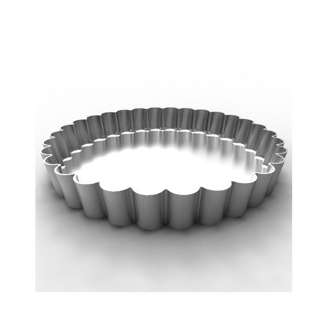 Guery Tourtière fer blanc fond fixe 24 cm