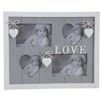 Aubry Gaspard - Cadre photos en bois, motif coeur