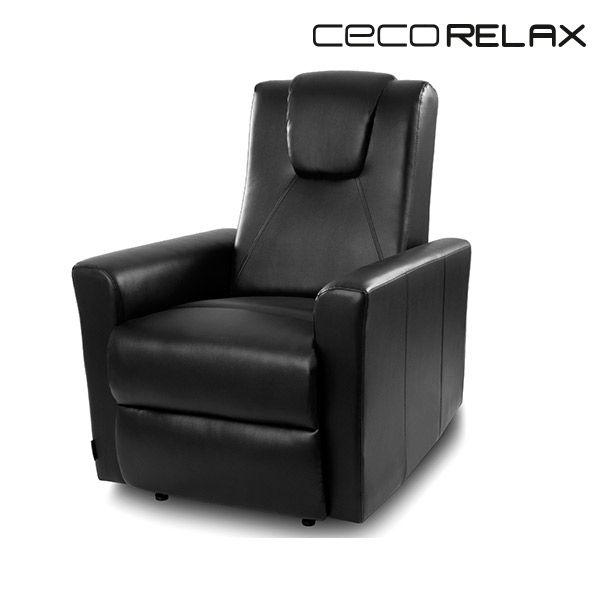 Sans Marque Fauteuil Relax Masseur Noir Cecorelax 6151