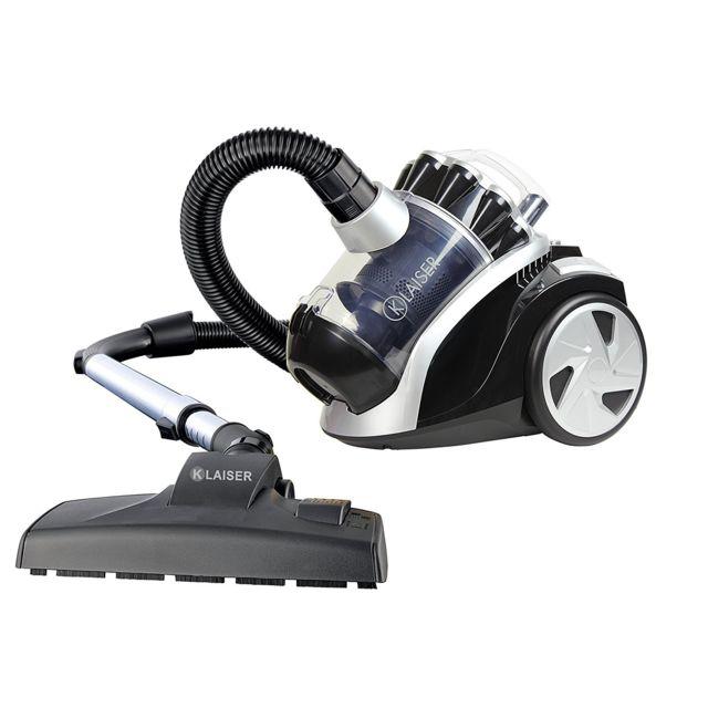 klaiser bs112 extractor compact aspirateur sans sac 1600w achat aspirateur sans sac silencieux. Black Bedroom Furniture Sets. Home Design Ideas