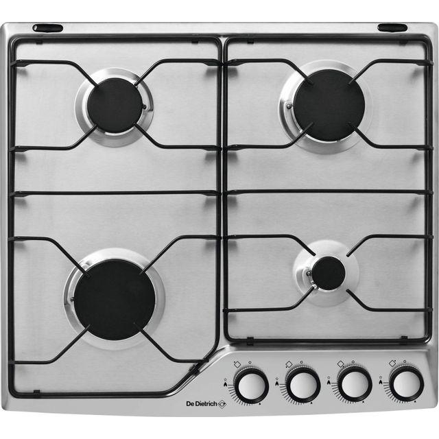 de dietrich table de cuisson gaz mail 4 feux inox dpe7610x achat plaque de cuisson gaz. Black Bedroom Furniture Sets. Home Design Ideas