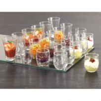 Reception - Lot de 24 verrines en verre - Formes assorties