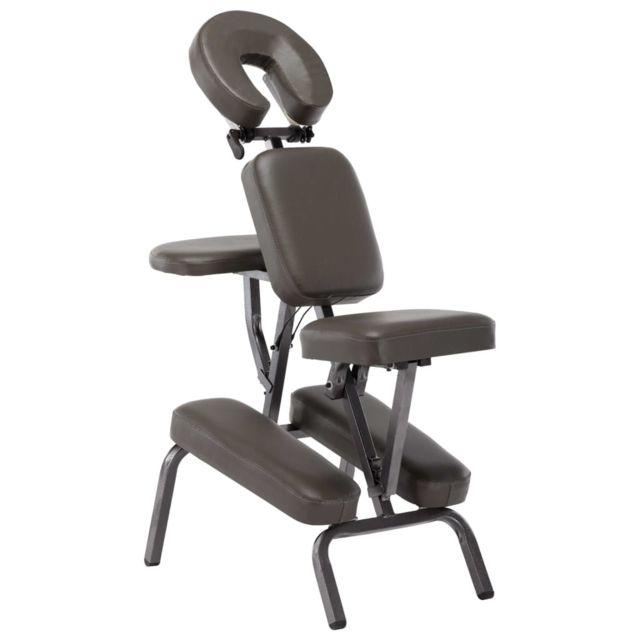 Admirable Massage & relaxation gamme Lomé Fauteuil de massage Similicuir Anthracite 122x81x48 cm