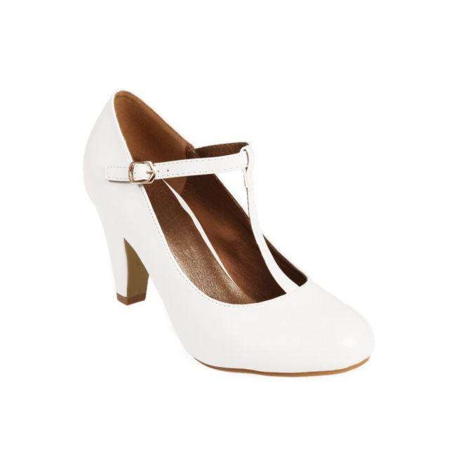 La Modeuse - Escarpin flamenco verni blanc - pas cher Achat   Vente ... aa2080676609
