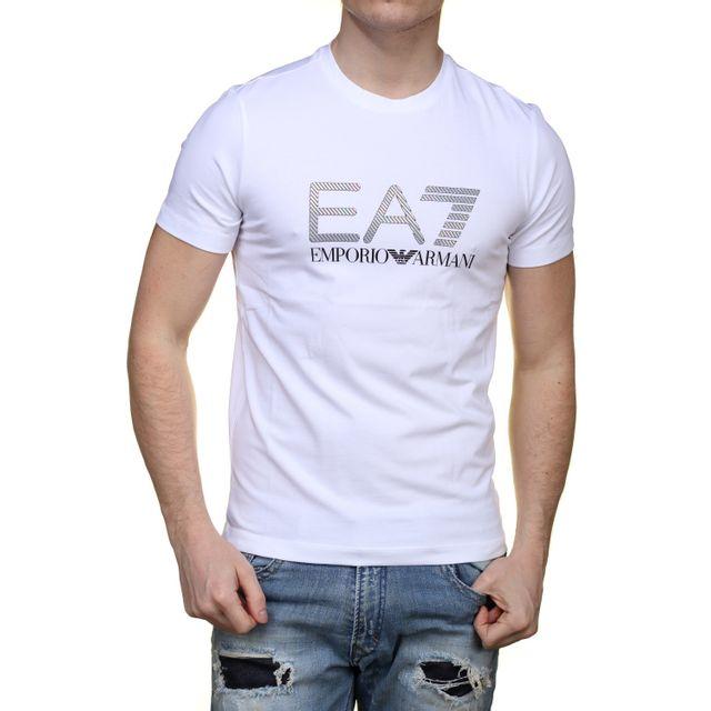 Ea7 Emporio Armani - T Shirt 6xpta6 - Pj18z 1100 Blanc - pas cher Achat    Vente Tee shirt homme - RueDuCommerce 63a8cbb3701