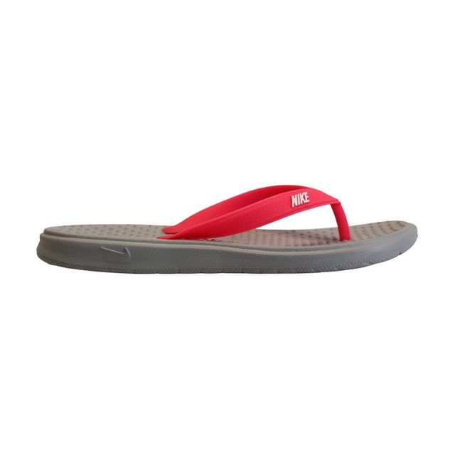 fb3fd76920d Nike - Solay Thong Gs PS Gris - pas cher Achat   Vente Sandales et tongs  femme - RueDuCommerce
