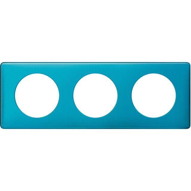 plaque legrand c/éliane 2 postes blue snake