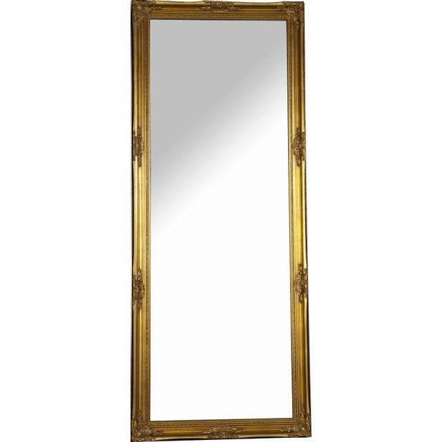 Comforium Grand Miroir mural doré design classique